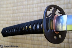 tombo-katana tsuka-tusba-habaki close-up