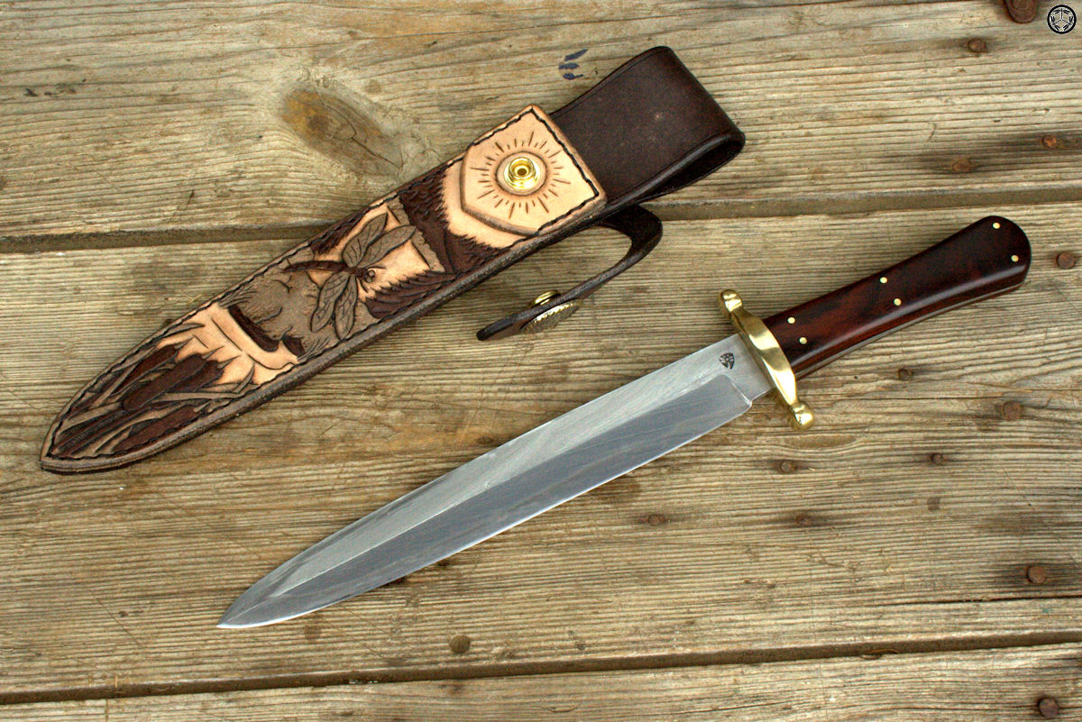 2015 Cable Spear Point Bowie with Sheath 029